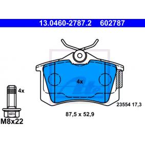 Jogo de pastilhas para travão de disco Largura: 87,5mm, Altura: 52,9mm, Espessura: 17,3mm com códigos OEM 6R0 698 451