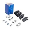 Disk brake pads ATE 25975 with acoustic wear warning, with brake caliper screws, with accessories