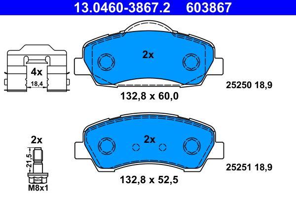 Bremsbelagsatz ATE 25250 Bewertung