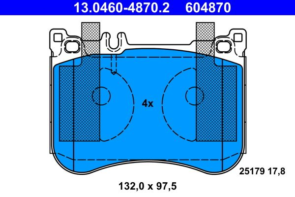 Bremsbelagsatz ATE 604870 Bewertung