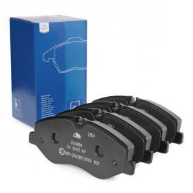 Bremsbelagsatz, Scheibenbremse Breite: 184,1mm, Höhe: 75,0mm, Dicke/Stärke: 20,7mm mit OEM-Nummer 447 420 02 20