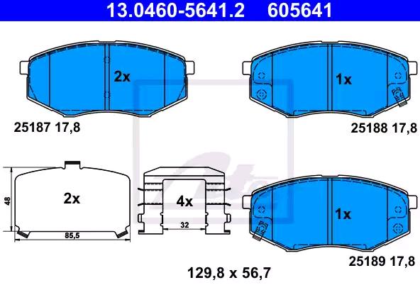 Bremsbelagsatz ATE 25188 Bewertung