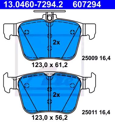 Bremsklötze ATE 13.0460-7294.2 4006633421812