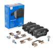 ATE Ceramic Brzdové destičky MERCEDES-BENZ pro uzavírací výstražný ukazatel, bez výstražného uzavíracího kontaktu, Šrouby třmenů, s příslušenstvím