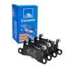 ATE Bremsbelagsatz, Scheibenbremse für Verschleißwarnanzeiger vorbereitet, exkl. Verschleißwarnkontakt