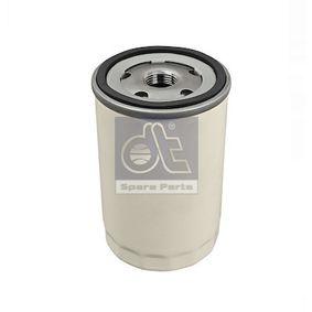 Filtre à huile Ø: 76mm, Diamètre intérieur: 62mm, Hauteur: 122mm avec OEM numéro 1072434