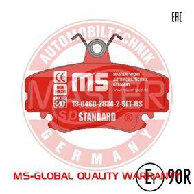 Bremsbelagsatz, Scheibenbremse Breite: 99,9mm, Höhe: 64,9mm, Dicke/Stärke: 18,0mm mit OEM-Nummer 7701210130