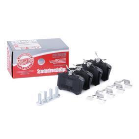 Bremsbelagsatz, Scheibenbremse Breite: 87,6mm, Höhe: 52,9mm, Dicke/Stärke: 16,4mm mit OEM-Nummer 7701 207 695