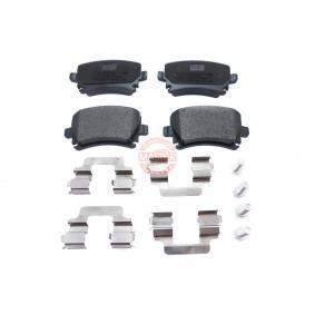Bremsbelagsatz, Scheibenbremse Breite: 105,3mm, Höhe: 55,9mm, Dicke/Stärke: 17,1mm mit OEM-Nummer JZW 698 451 M