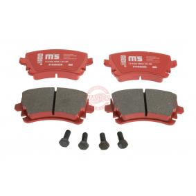 Bremsbelagsatz, Scheibenbremse Breite: 116,1mm, Höhe: 59,0mm, Dicke/Stärke: 17,4mm mit OEM-Nummer 4F0698451C