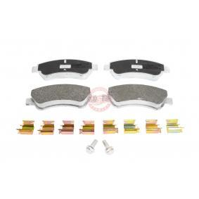Brake Pad Set, disc brake Width: 136,8mm, Height: 52,0mm, Thickness: 19,0mm with OEM Number 16 13 192 280