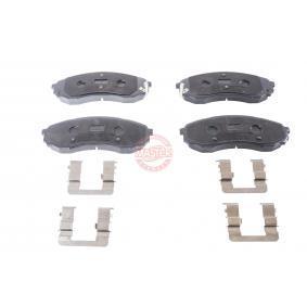 Bremsbelagsatz, Scheibenbremse Breite: 164,4mm, Höhe: 63,3mm, Dicke/Stärke: 17,7mm mit OEM-Nummer 58101 4DE00