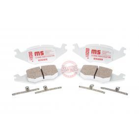 MASTER-SPORT Bremseklosser ekskl. slitasjevarselkontakt, ikke klargjort for slitasjeindikator, med antihyle blikk