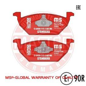 Bremsbelagsatz, Scheibenbremse Breite: 146,0mm, Höhe: 54,7mm, Dicke/Stärke: 19,6mm mit OEM-Nummer 8Z0698151A