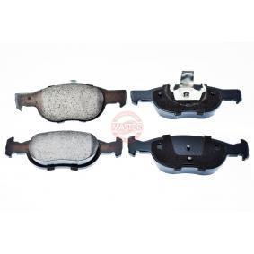 Brake Pad Set, disc brake 13046071252N-SET-MS PUNTO (188) 1.2 16V 80 MY 2002