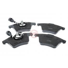 Brake Pad Set, disc brake Width 1: 156,2mm, Width 2 [mm]: 155,0mm, Height 1: 74,8mm, Height 2: 73,3mm, Thickness 1: 19,1mm, Thickness 2: 19,6mm with OEM Number 7L6 698 151 F