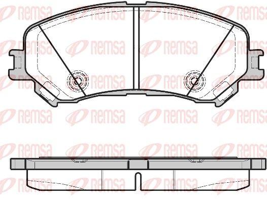 REMSA  1318.20 Bremsbelagsatz, Scheibenbremse Höhe: 58,7mm, Dicke/Stärke: 18,5mm