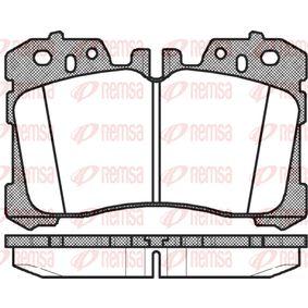 Bremsbelagsatz, Scheibenbremse Höhe: 87,9mm, Dicke/Stärke: 18,4mm mit OEM-Nummer 04465-0W110
