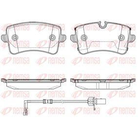 Bremsbelagsatz, Scheibenbremse Höhe 1: 60mm, Höhe: 58,8mm, Dicke/Stärke: 17,3mm mit OEM-Nummer 4H0698451C