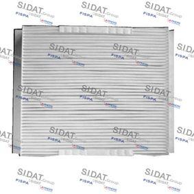 Filter, Innenraumluft Länge: 210mm, Breite: 240mm, Höhe: 30mm mit OEM-Nummer 1808527