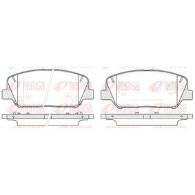 Bremsbelagsatz, Scheibenbremse Höhe: 60mm, Dicke/Stärke: 17,8mm mit OEM-Nummer 581012VA70(-)