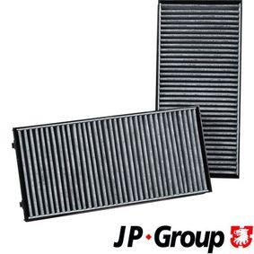 Filter, Innenraumluft Länge: 293mm, Breite: 138mm, Höhe: 34mm mit OEM-Nummer 64116945594