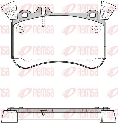 REMSA  1465.10 Bremsbelagsatz, Scheibenbremse Höhe: 92,5mm, Dicke/Stärke: 16,3mm