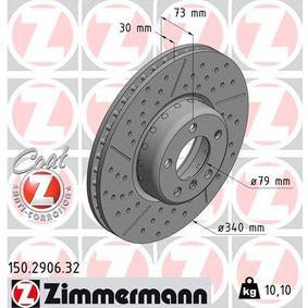 Brake Disc Brake Disc Thickness: 30mm, Rim: 5-Hole, Ø: 340mm with OEM Number 3411 6 797 602