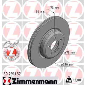 Brake Disc Brake Disc Thickness: 30mm, Rim: 5-Hole, Ø: 370mm with OEM Number 34 10 6 797 606