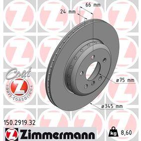 Brake Disc Brake Disc Thickness: 24mm, Rim: 5-Hole, Ø: 345mm with OEM Number 34 20 6 797 607