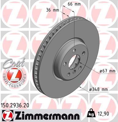 Bremsscheibe ZIMMERMANN 150.2936.20 einkaufen