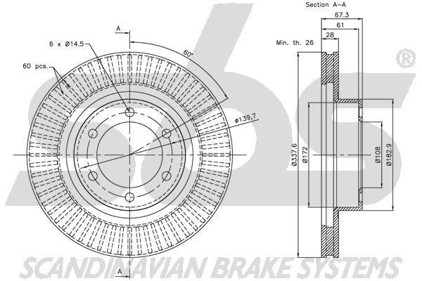 sbs  1501221510 Bremsbelagsatz, Scheibenbremse Breite 1: 151,50mm, Höhe 1: 57,40mm, Dicke/Stärke 1: 17,00mm