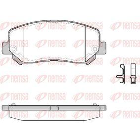 Bremsbelagsatz, Scheibenbremse Höhe: 61,2mm, Dicke/Stärke: 21mm mit OEM-Nummer 25564 REMSA