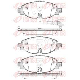 Bremsbelagsatz, Scheibenbremse Höhe: 64,5mm, Dicke/Stärke: 20,4mm mit OEM-Nummer 5Q0698151
