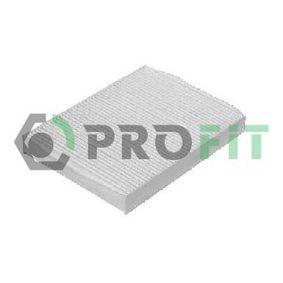 Filter, interior air 1521-2170 PUNTO (188) 1.2 16V 80 MY 2000