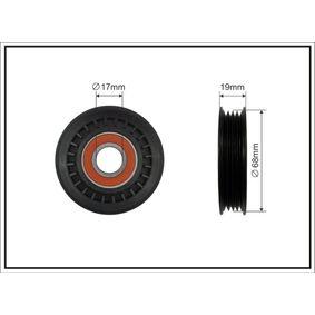 Deflection / Guide Pulley, v-ribbed belt Ø: 68mm with OEM Number 38942P01003