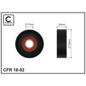 Spannrolle, Keilrippenriemen Breite: 24mm mit OEM-Nummer 1 455 380