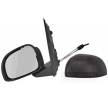VAN WEZEL Vnější zpětné zrcátko FIAT levá, Kompletní zrcátko, konvexní, pro manuální nastavení zrcátka, nastavení: kabely, drsné, černá