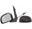 VAN WEZEL Rückspiegel FIAT links, Komplettspiegel, konvex, für manuelle Spiegelverstellung, Einstellung: Seilzug, rauh, schwarz