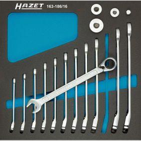 HAZET  163-186/16 Ratschen-Ringgabelschlüssel