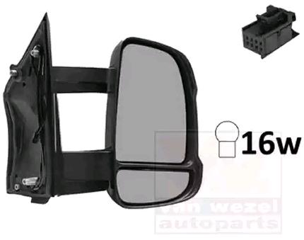 Rétroviseur extérieur gauche on Convexe Pour Fiat 735296233 735419582