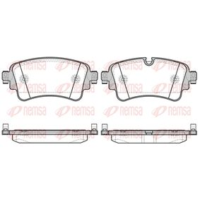 Brake Pad Set, disc brake Height: 59,1mm, Thickness: 17,5mm with OEM Number 8W0 698 451 J