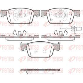 Kit de plaquettes de frein, frein à disque Hauteur: 64mm, Épaisseur: 17mm avec OEM numéro 8W0-698-151Q