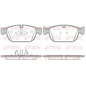 REMSA  1696.00 Bremsbelagsatz, Scheibenbremse Höhe: 75mm, Dicke/Stärke 2: 18,5mm, Dicke/Stärke: 18mm