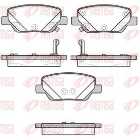 Bremsbelagsatz, Scheibenbremse Höhe: 42,2mm, Dicke/Stärke: 17,3mm mit OEM-Nummer 77367717(-)