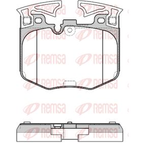 REMSA  1711.00 Bremsbelagsatz, Scheibenbremse Höhe: 94,8mm, Dicke/Stärke: 20mm