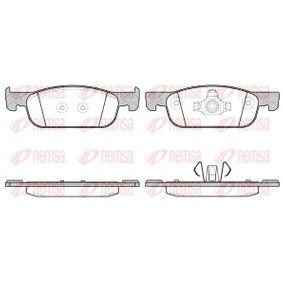 Bremsbelagsatz, Scheibenbremse Höhe: 49mm, Dicke/Stärke: 17mm mit OEM-Nummer 410605536R
