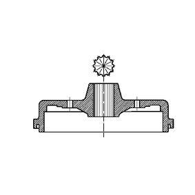 Bremstrommel Trommel-Ø: 230,0mm mit OEM-Nummer 113 501 615J