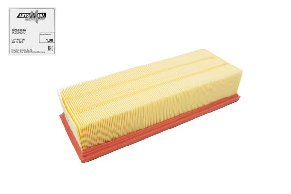 AUTOMEGA  180025510 Luftfilter Breite: 135,5mm, Höhe: 70mm, Länge über Alles: 344,4mm, Länge: 135,4mm