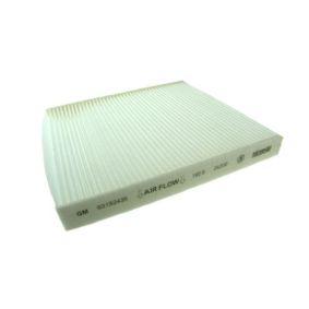 Filter, Innenraumluft Länge: 258mm, Breite: 231mm, Höhe: 30mm mit OEM-Nummer 90559549